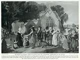 """Sir Roger de Coverley, going to Church with the """"Spectator,"""" Surrounded by his Tenants"""