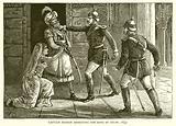 Captain Hodson arresting the King of Delhi, 1857