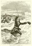 Wolfe landing at Louisburg, 1758