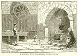 A Kitchen, with Dog-Wheel, 17th Century