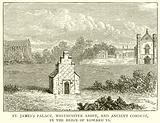St James's Palace, Westminster Abbey, and Ancient Conduit, in the Reign of Edward VI