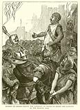 Hubert de Burgh urging the Garrison of Dover to Resist the landing of the French, 1217