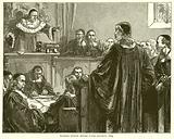 Richard Baxter before Judge Jeffreys, 1685