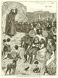 St Columb Preaching in Iona, 564 AD