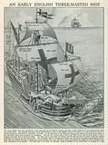 An Early English Three-Masted Ship