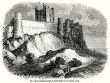 Rock of Bamborough, with the Castle in its Present State