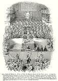 Trial of Charles I. A, the King. B, the Lord President Bradshaw. c, John Lisle; D …