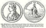 Medal Struck to Commemorate the able Conduct of the Queen, after the Defeat of the English …
