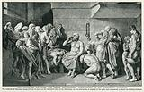 The Death of Socrates, the Greek Philosopher, Surrounded by his Sorrowing Disciples