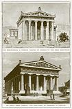 The Erechtheion, a Famous Temple at Athens to the Hero Erectheios. An Early Doric Temple