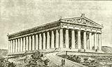 Exterior of the Parthenon at Athens in the Time of its Builders