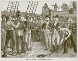 """H.M.S. """"Briton,"""" at Pitcairn Island"""