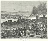 Julius Caesar laying siege to Alesia, Gaul, 52 BC