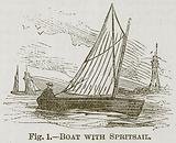 Boat with Spritsail