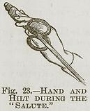 """Hand and Hilt during the """"Salute"""""""