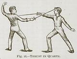 Thrust in Quarte