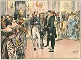 Erste Begegnung zwischen dem Prinzen Wilhelm von Preussen und Otto von Bismarck 1835