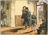 Ankunft in der Plamann'schen Erziehungsanstalt in Berlin 1821