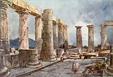Interior of the Temple of Apollo at Bassae in Arcadia