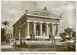 Temple of Poseidon at Paestum. (Restoration)
