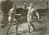 Mr Alexander as Macduff, and Mr Irving as Macbeth