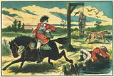 Dick Turpin shoots Pooly, the thief-taker, on Hounslow Heath