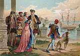 Tycho Brahe leaving Uraniborg