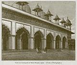 View in Courtyard of Muti Musjid, Agra