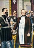 Victor Emanuel and Cavour learn of the Villafranca Armistice, 12 July 1859