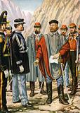 Garibaldi is asked to halt the campaign in Trentino. He answers: I obey