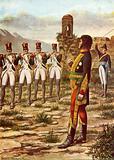 Joachim Murat facing a firing squad in Calabria