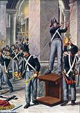 The looting of Cesena by Papal soldiers, 1832