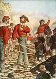 Garibaldi and his wife, Anita, defending Rome in 1849