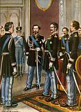 The abdication of Charles Albert in favour of Victor Emmanuel