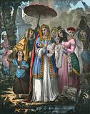 Moses saved by Pharoah's Daughter