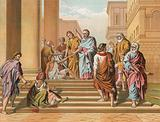 The Lame Man healed by Peter and John
