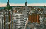 Singer Tower, Woolworth and Municipal Buildings, New York