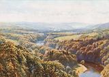Scott's Favourite view from Bemerside Hill, Roxburghshire