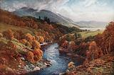 River Awe Flowing to Loch Etive, Argyllshire