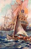 An attack on a Spanish Galleon