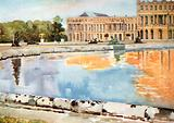 The North Wing of the Palace, from the Parterre D'Eau, Versailles