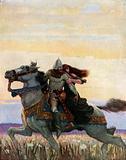 He Rode his Way with the Queen unto Joyous Gard
