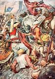 Because of the Heavy Blows Duke Charles Showered upon the Saracens he was called Charles the Hammer