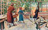 Jesus Labouring at Home with Joseph and Mary