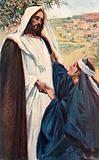 Meeting of Jesus and Martha