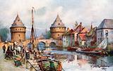 "The Old Bridge Towers, or ""Broel-Torens,"" Courtrai"