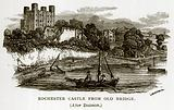 Rochester Castle from Old Bridge