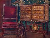 Group of Late Sixteenth-Century Continental Furniture: Portuguese Cabinet of Chestnut …