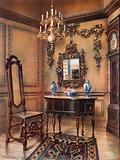 Panelling, with Grinling Gibbon Carvings. Mirror Frame, Walnut Table, William and Mary.