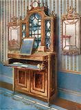 Satinwood and Mahogany Inlaid Dressing Cabinet